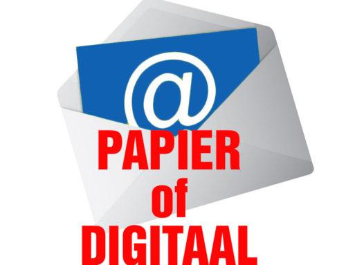 Jouw nieuwsbrief… Digitaal of op papier – Doe er je voordeel mee