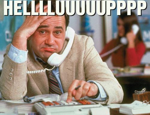 Bellen, gebeld worden en we doen maar wat…