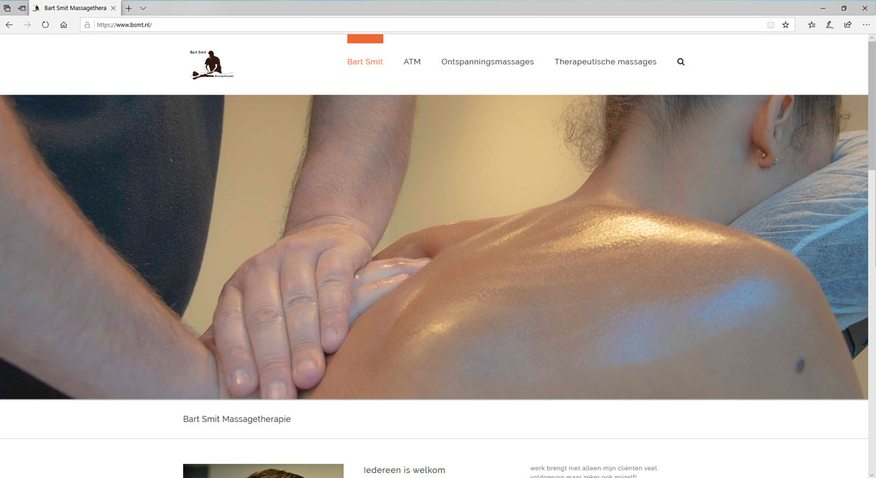 Een website voor massagetherapie