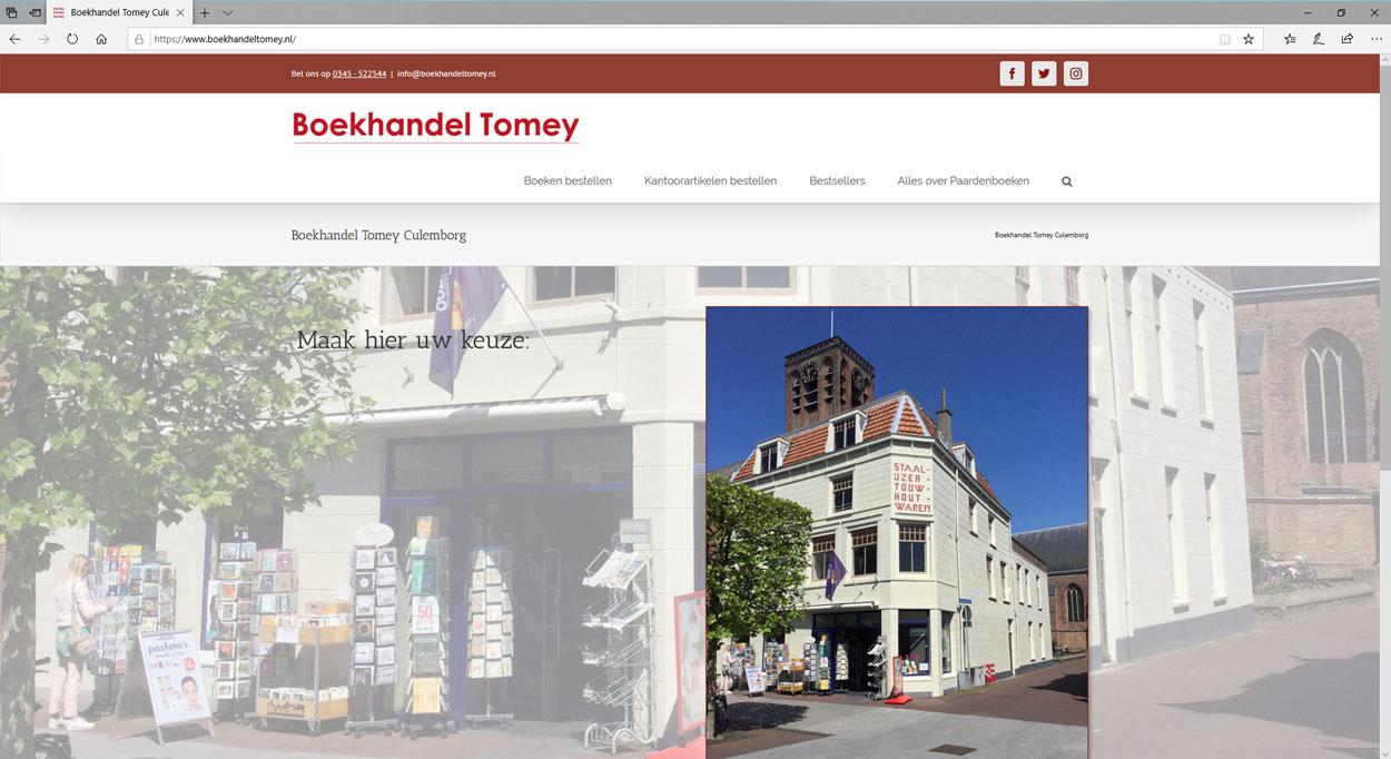Een website voor een boekhandel