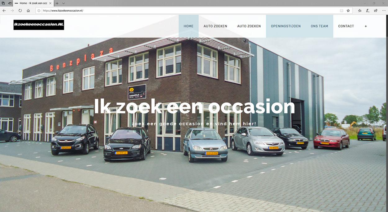 Een website voor een occasions bedrijf