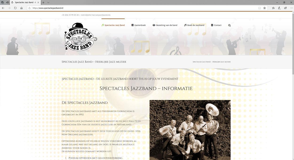 Een website voor een Jazzband